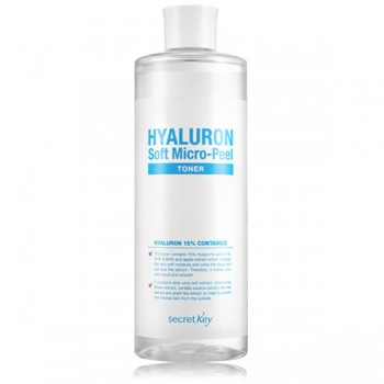 Secret Key Hyaluron Soft Micro-Peel Toner - Тонер гиалуроновый